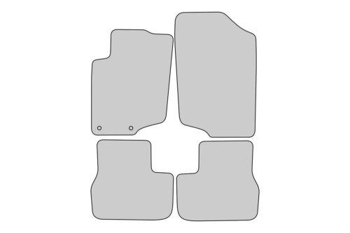 2006-2015 Exclusive Design Fußmatten für Peugeot 207 Bj