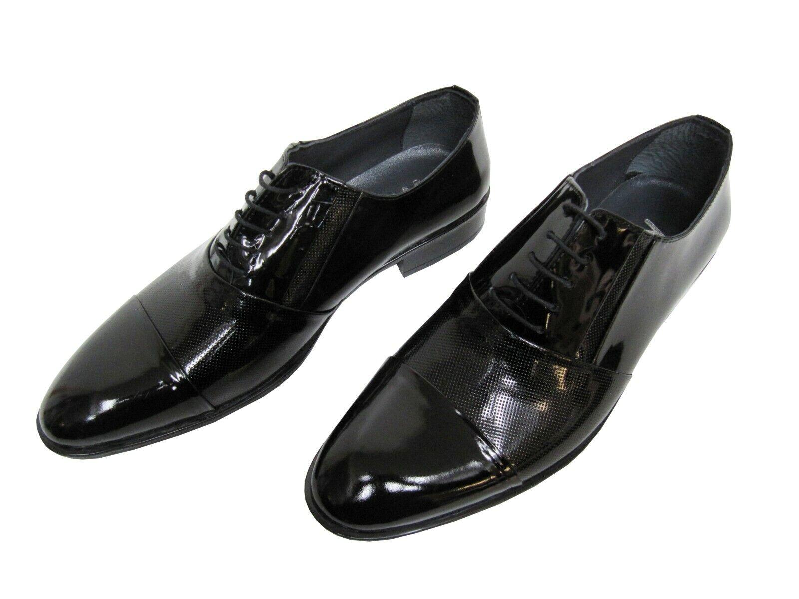 Herren Lackschuhe Leder Schuhe Gr.44 Schwarz