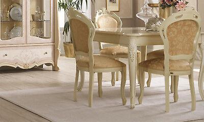 Esstisch Wohnzimmer Esszimmer Tisch Quadratisch Ausziehbar Elfenbein Stil Möbel