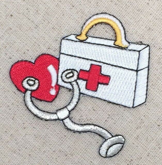 """#4439 7//8/""""x1 1//8/"""" First-aid Kit Embroidery Iron On Applique Patch"""