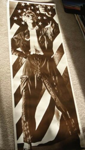 """DAVID BOWIE """"YOUNG AMERICANS"""" GIANT DOORSIZE COMMERCIAL POSTER FROM 1981 EUROPE"""