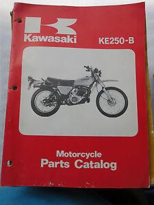 Kawasaki 250 KE KE250 B1 B2 B3 Used Parts Manual Book List Catalog 1977-1979  OEM | eBayeBay