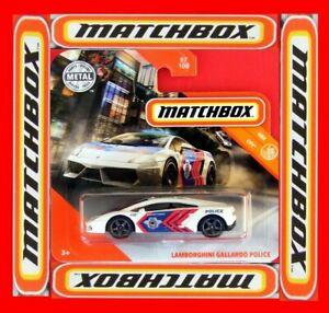 MATCHBOX-2019-LAMBORGHINI-GALLARDO-POLICE-87-100-NEU-amp-OVP