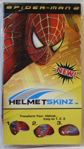 Spider Man 2 Bicycle Helmet Skinz Housse Protection Taille Unique NEUF!