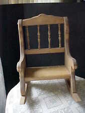 """Small Rocking Chair Decorative Plant Stand or Doll Chair 14-1/2"""" Tall 11"""" Long"""