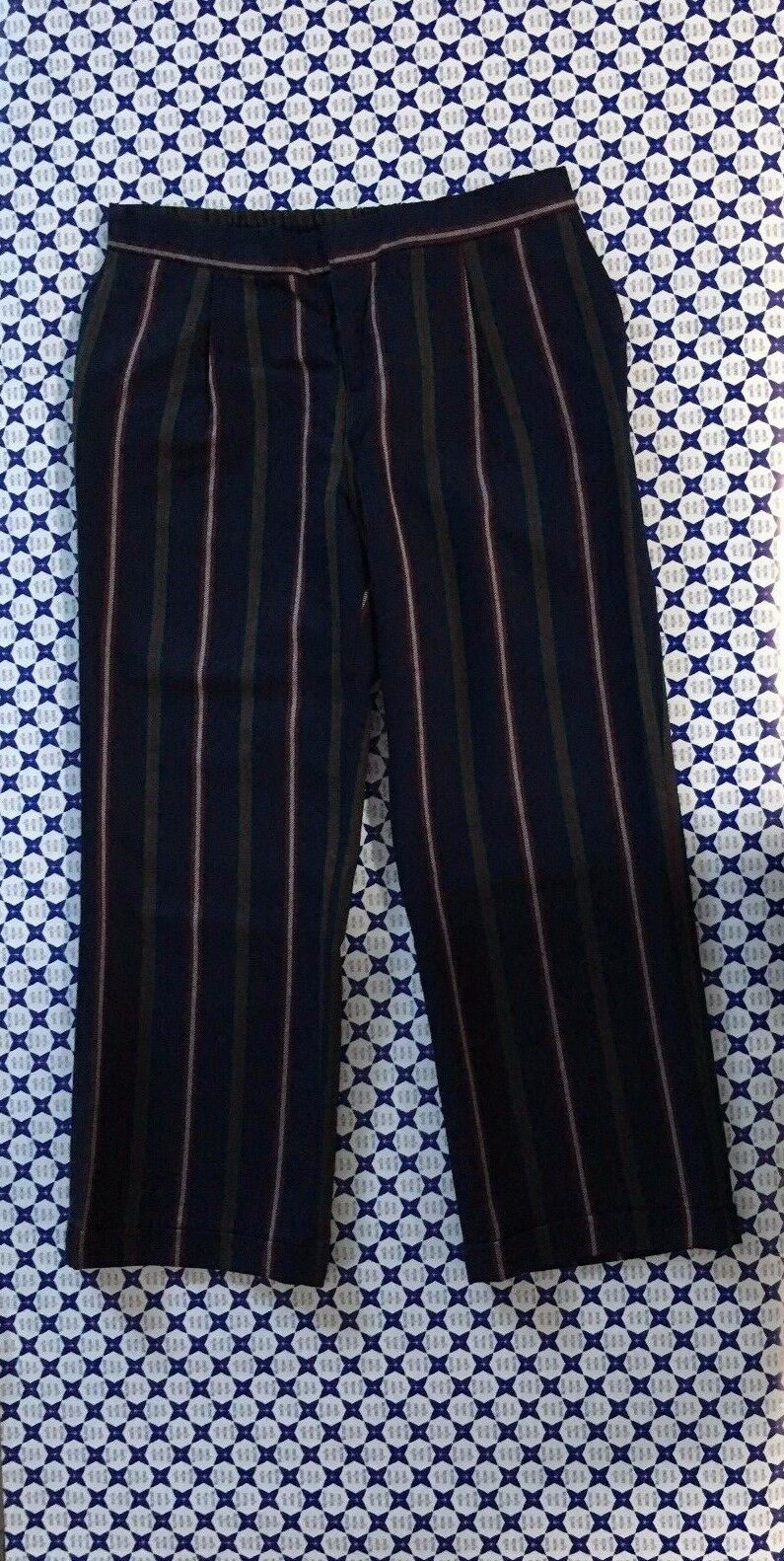 Pantalone SUN 68 women - Loungette Lana Righe - blue green - P2722