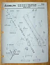 Delta 12 4 Speed Amp Variable Speed Wood Lathes Illustrated Parts List Wl 3c
