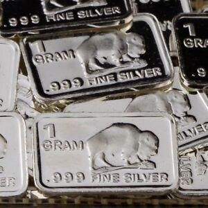 Lot-30-X-1-Gram-999-Fine-Pure-Silver-Bar-Bullion-Buffalo-S6PT202-oz