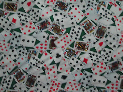 DECK OF CARDS PLAYING CARD SUITS GAMES CHANCE COTTON FABRIC FQ