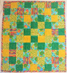 Blue Coral Baby Quilt Blanket Baby Shower Gift Baby Quilt Baby Gift