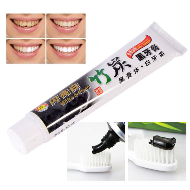 100g Bamboo Charcoal Teeth Whitening Clean Black Toothpaste Oral Hygiene Care cn