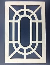 "Grandfather Clock Side Panel Grate or Wood Fret 6 1/8""w X 9 5/16""h Pair"