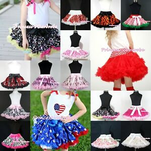Red Sequin pettiskirt full skirt dress tutu girl clothing for pageant party 1-8Y