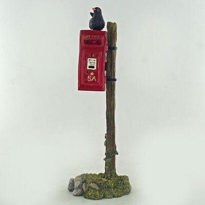 Blackbird On Postbox Sculpture Bird Garden Gift New British Farm Bowbrook 04063