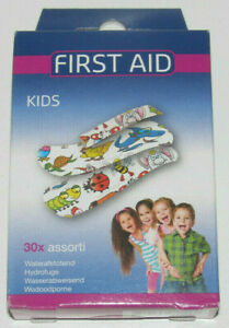 Boite-Lot-x20-Assortiment-Pansement-Adhesif-etanche-Enfant-Kids-Sticking-Plaster