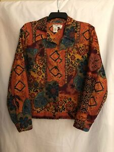 Coldwater-Creek-Women-039-s-PXL-Colorful-Beaded-Jacket-EC