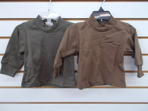 /& Boys 2 Pack Army Green or Brown L//S T-Shirt Size 0//6m Infant 6//7 Toddler