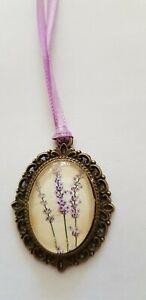 Amulet-Medallion-Lavender-Approx-1-3-16in-Unique-Handarbeit-For-Bear-Etc