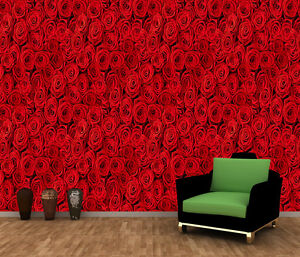 Image Is Loading Red Roses Flowers Blossom Photo Wallpaper Wall Mural