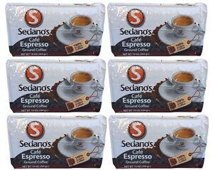 6x-Cafe-Sedano-039-s-Espresso-Ground-Coffee-10-oz-284-g