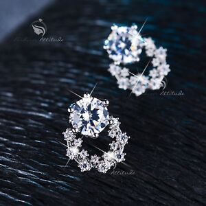 18k-white-gold-filled-made-with-SWAROVSKI-CZ-crystal-earrings-stud-cute