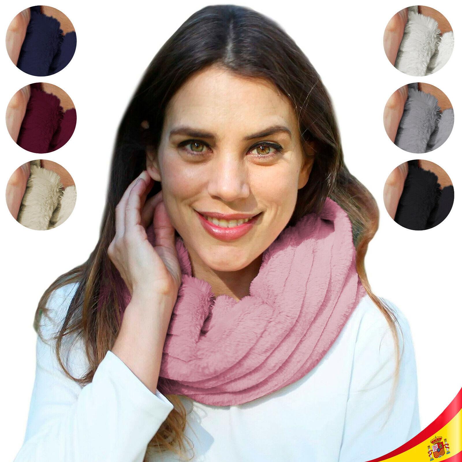 Bufanda de cuello pelo caliente de invierno Bragas de cuello Sintético Colores para Elegir
