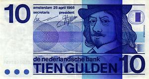 05-Netherlands-Niederlande-P91b-10-Gulden-1968