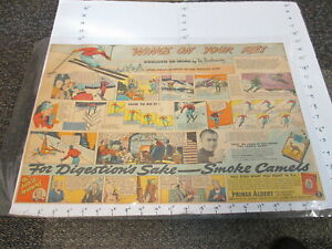 newspaper-ad-1937-Camel-cigarette-SIG-BUCHMAYR-snow-skiing-Nestles-candy-LARGE