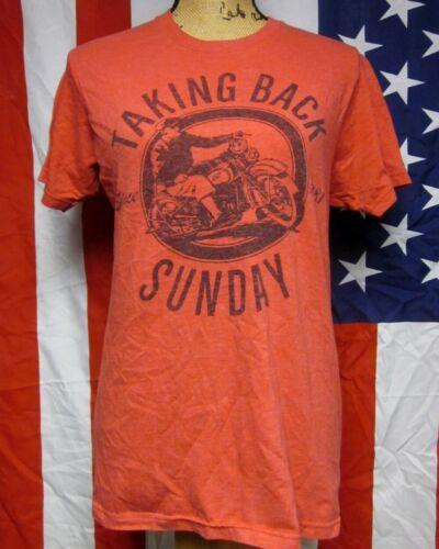 TAKING BACK SUNDAY motorcycle med T shirt emo-punk