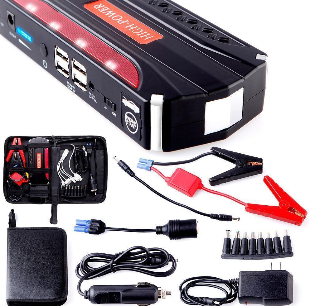 80000mah portable car jump starter pack booster battery charger 4 usb power bank ebay. Black Bedroom Furniture Sets. Home Design Ideas