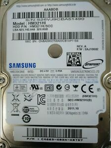 Disco-Duro-HDD-2-039-5-320Gb-Samsung-HM321HI-SATA-3Gb-s-en-funcionamiento