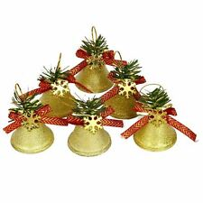 KRAFTZ® Christmas Tree Decor Shatterproof Gold Jingle Bells Ornament