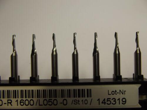 5 Stück + Dremel VHM 1 Schneiden  Fräser +1,5 mm Proxxon CNC