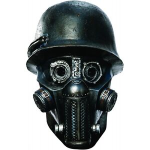 Image is loading Zombie-Soldier-Gas-Mask-Adult-Sucker-Punch-Halloween-  sc 1 st  eBay & Zombie Soldier Gas Mask Adult Sucker Punch Halloween Costume Fancy ...