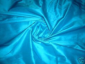 DEEP SKY BLUE 100% PURE SILK FABRIC BRIDESMAID DRESS WEDDING DECOR ...