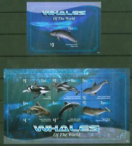 Romantique Tuvalu 2011-baleines Grindwal Cachalot Schwertwal Dauphin - 1690-95 + Bloc 164-afficher Le Titre D'origine éConomisez 50-70%