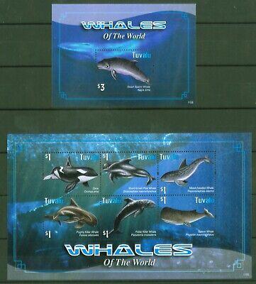 Tuvalu 2011 - Wale Grindwal Pottwal Schwertwal Delfin - 1690-95 + Block 164