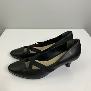 Supersoft-by-Diana-Ferrari-Size-9-Jinka-Black-Leather-Court-Shoe-Point-Pump-40