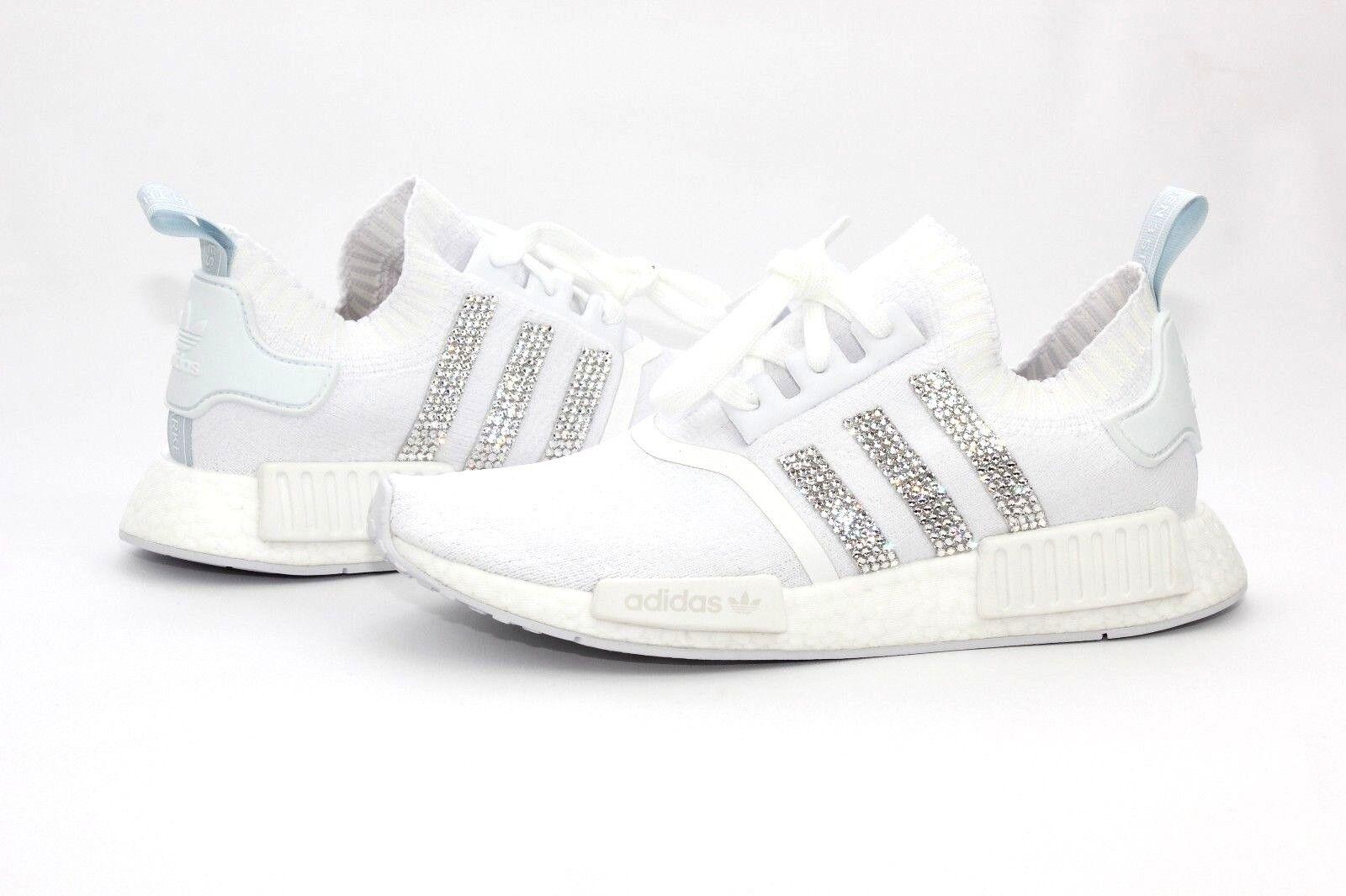 75141ad8927d adidas Custom Bling NMD R1 PK Cloud White Blue Tint Womens Size 8 US ...