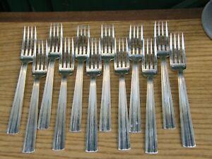 Fourchettes-de-Table-Art-Deco-Argent-Plaque-Christofle-Modele-Mira-Luc-Lanel