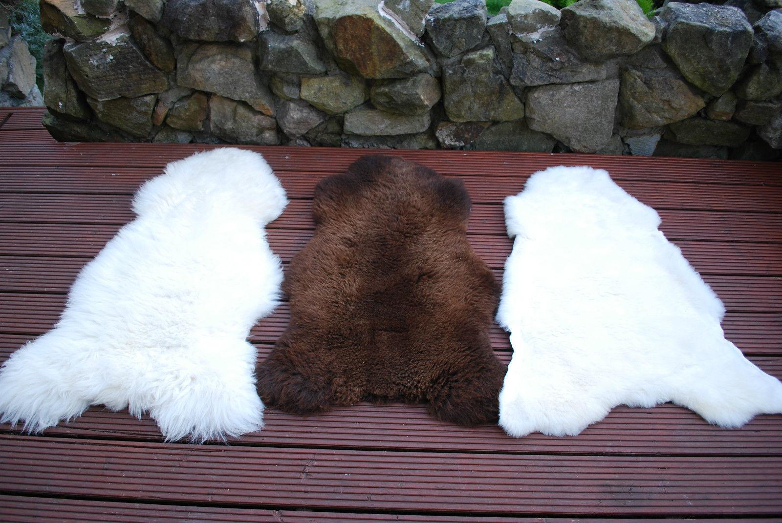 Natural Weiß Ivory Sheepskin Fur Rug Merino XL XXL XXXL
