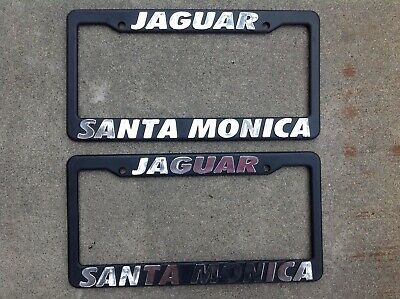 Jaguar Santa Monica >> 2 Pair Jaguar Santa Monica California Dealer License Plate Frames Ebay