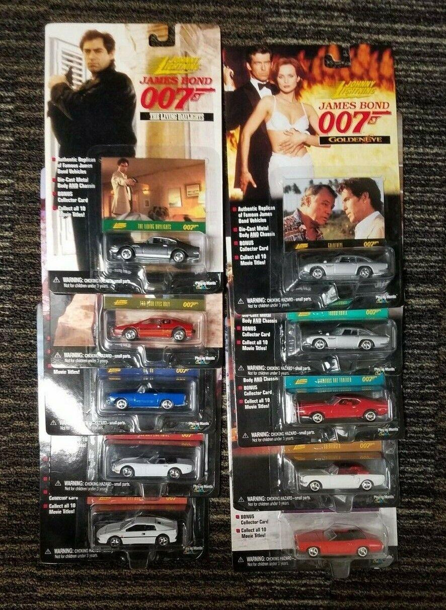 Viel von 10 Johnny Lightning Autos James Bond 007 Komplettset 1998