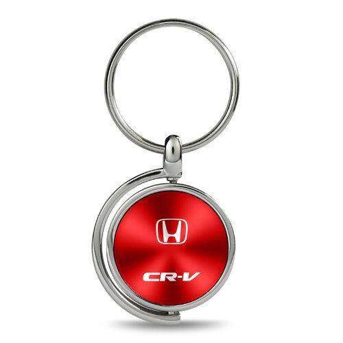 Honda CR-V Red Brushed Metal Spinner Key Chain