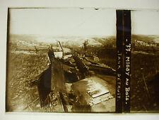 plaque photo guerre 14-18 missy aux bois aisne tank détruit WWI