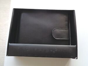 Austin Reed Mens Black Soft Leather Wallet Bifold Cards Notes Coins New In Box Ebay