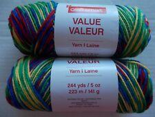 lot of 2 244 yds ea Craftsmart Value yarn worsted weight Stone Washed