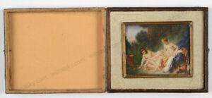 Boucher El Bano De Diana.Details About Diana Leaving Her Bath French Miniature After Francois Boucher 20th Century