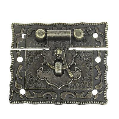 5Sets Box Suitcase Toggle Latch Buckles Bronze Tone 5.1cm x2.9cm