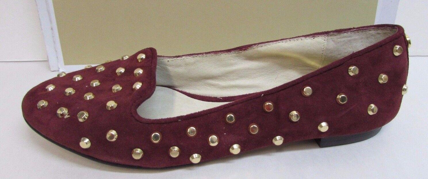 Michaels Kors  Größe 6.5 Burgundy Leder Flats New Damenschuhe Schuhes